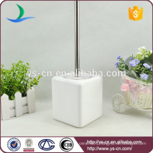 white bathroom accessory ceramic toilet brush holder for family